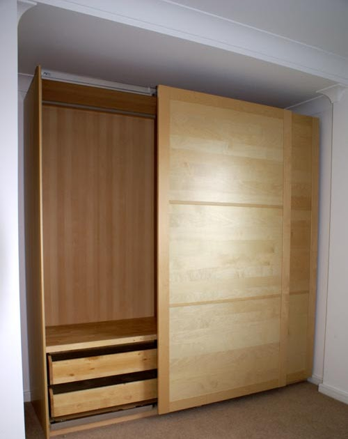 The Unflatpacker Ikea Pax sliding wardrobe build