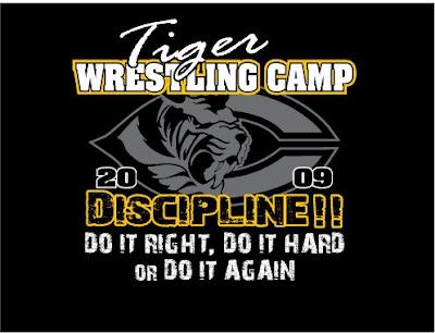Latest wrestling news tiger wrestling camp t shirt design for Wrestling tournament t shirt designs