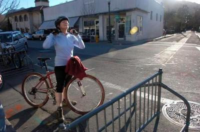 Image of cyclist in Marin