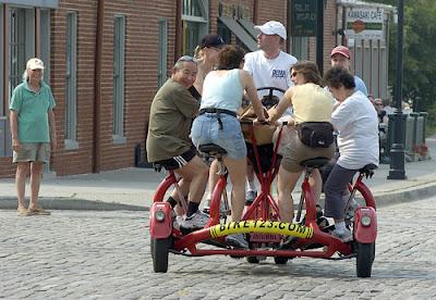 Image of seven-passenger conference bike