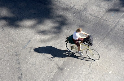 Image of bicyclist in Sacramento