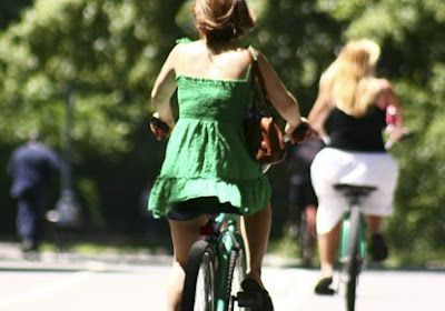 Image of woman on a bicycle