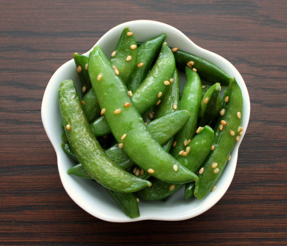 APPLE A DAY: Sugar Snap Peas with Sesame