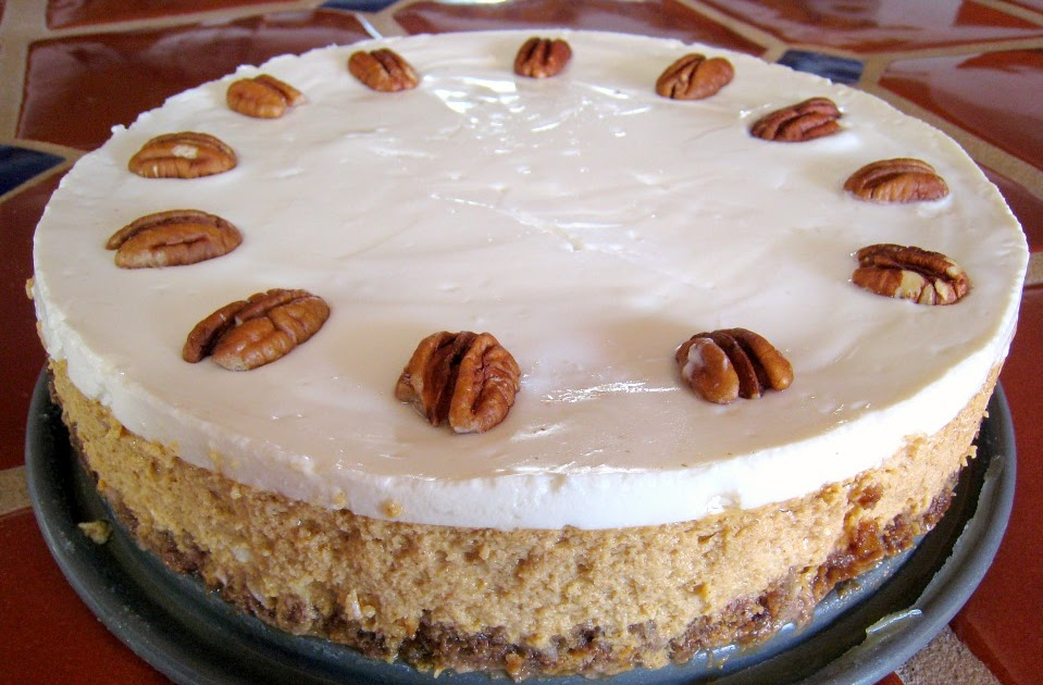 APPLE A DAY: Pumpkin Cheesecake with Bourbon-Sour Cream ...