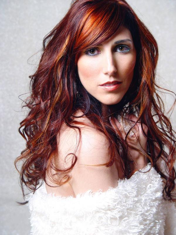 Red Brown Hair Color with Highlights