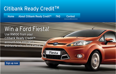 Citibank 'Ready Credit & Ford Fiesta' Contest