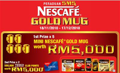 Nestle 'Peraduan SMS Nescafe Gold Mug' Contest