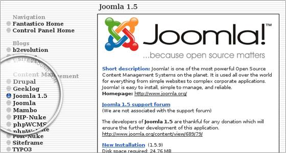 Install Joomla Via Fantastico auto installer