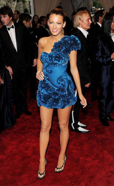 A lot of people dislike Blake Livelyu0027s Marchesa mini but I like this style choice. Weu0027re used to seeing Lively in plain coloured minis with little ...  sc 1 st  Nasty Natalie & Nasty Natalie: Best and Worst Dressed: Costume Institute Gala