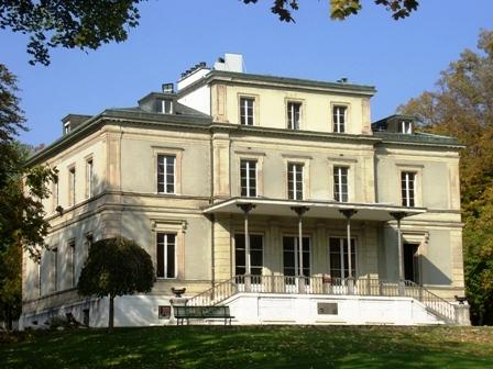 L'arrière de la villa Moynier coté lac