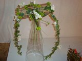 Bouquet de noiva com estrutura