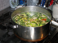 Vegetables simmering