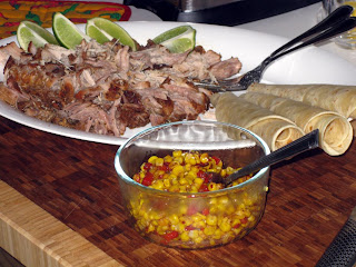 Shredded pork and Chili corn