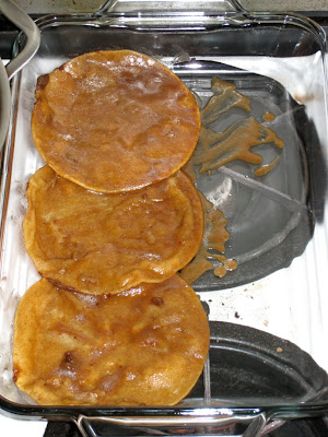Layer tortillas in baking dish