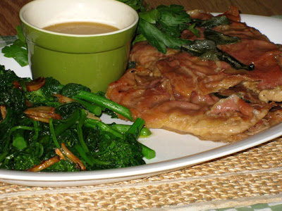 Serve saltimbocca with broccoli rabe and reserved pan sauce