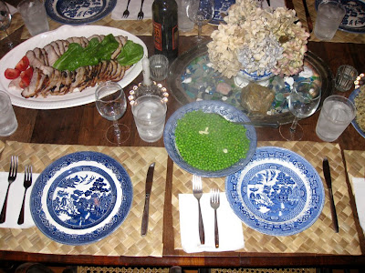 Blue Willow table setting