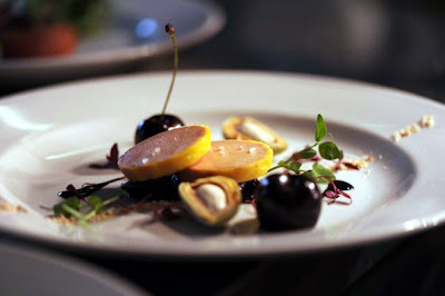 Ballottine of foie gras with cherries and fresh almond - The Nut Tree