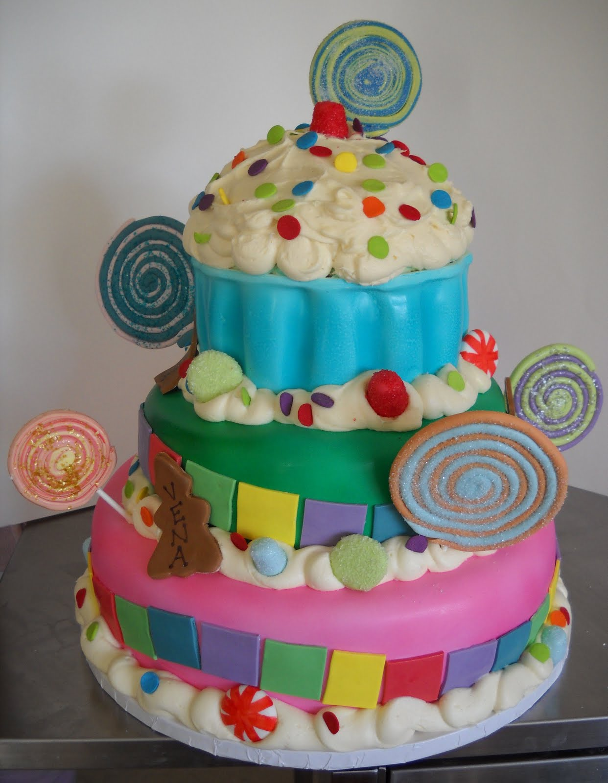 Taras Piece Of Cake Candyland Birthday Cake