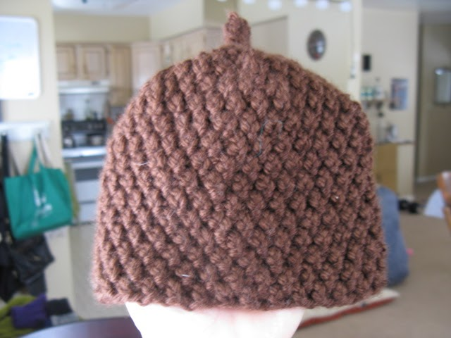 Warmer Than A Witchs Knits Acorn Baby Hat