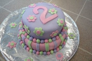 Birthday Cake For Little Sister ~ Birthday cake made with marshmallow fondant