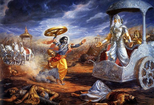 Krishna y Arjuna