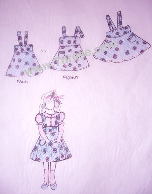 Baby Dress Design. This is baby blue dress drawing.