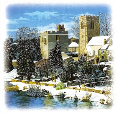 Castillo nevado sobre el río-Trevor Wells