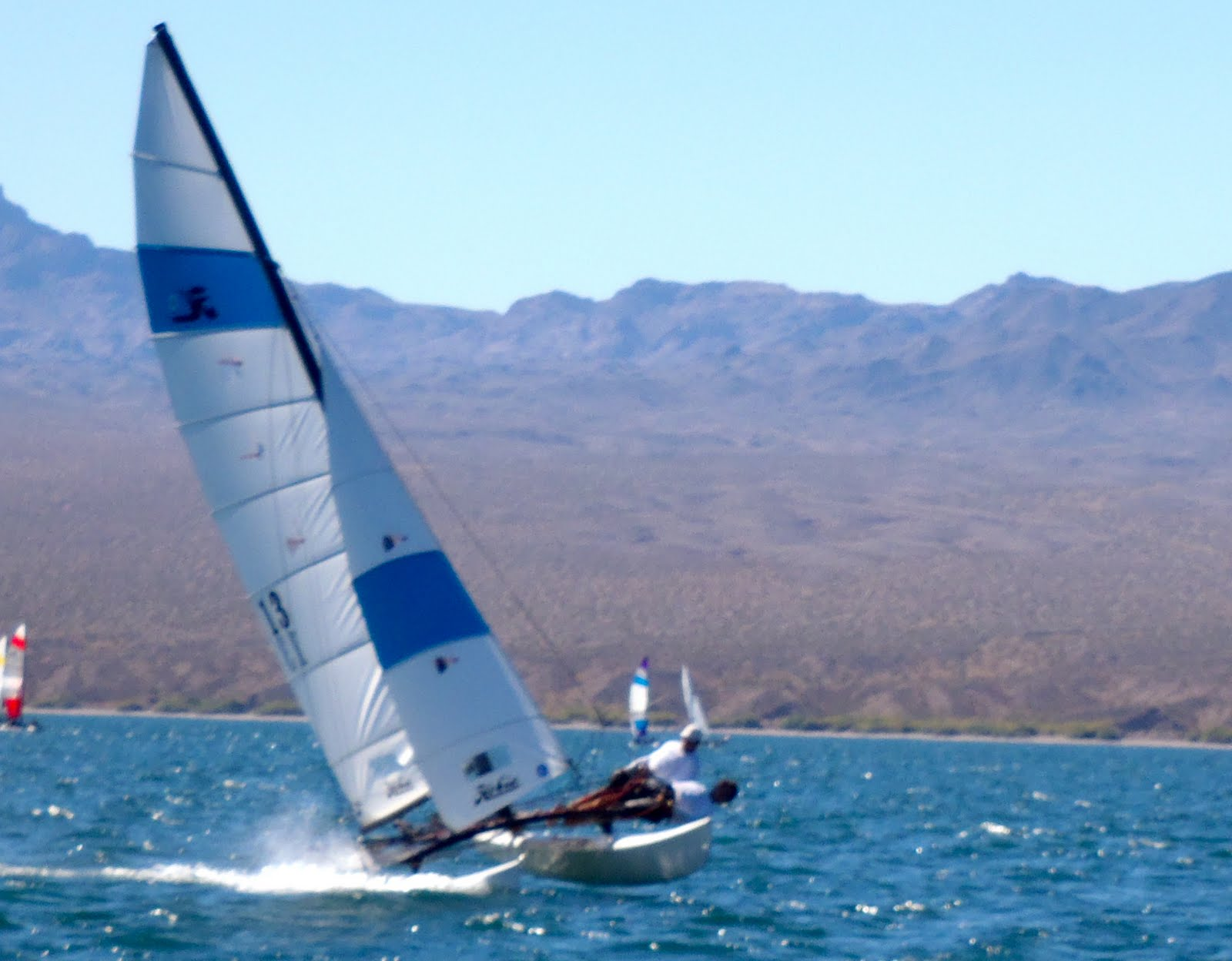 ccc988181ef Wind conditions during the days of the N.A. Nationals varied from 12 – 22  knots. The course was a start to buoy A of 1.2 miles and courses were  typically ...