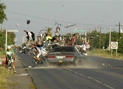 At a bike race