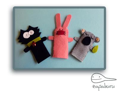 Marionetas de dedo con fieltro