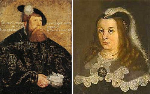 King Gustav Vasa and Queen Consort Katarina Stenbock