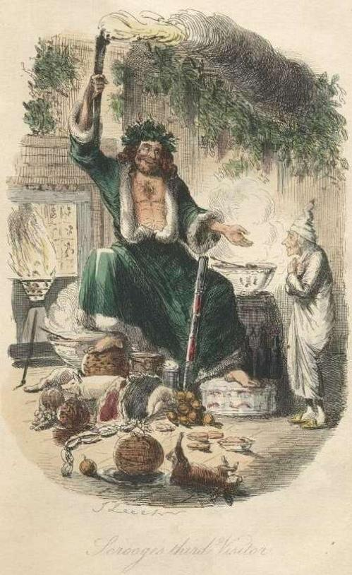 Charles Dickens' A Christmas Carol, first edition illustration by John Leech in 1843