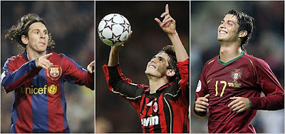 KaKa and Ronaldo and Messi