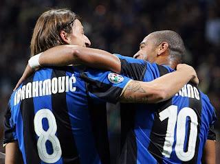 Zlatan Ibrahimovic, Adriano - Inter