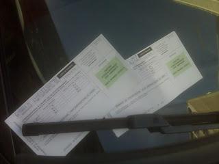 Parking Tickets on Car in Paris