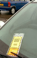 Parking Ticket on Car in England