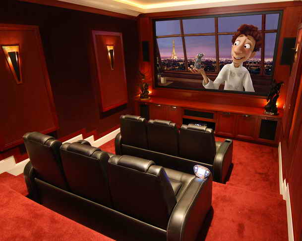Minimalist Home Dezine: Professional Basement Home Theater Designs ...