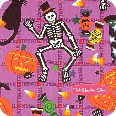 halloween batik fabric