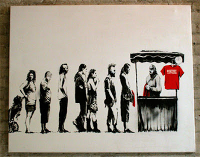 banksy. Banksy Graffiti On Paper