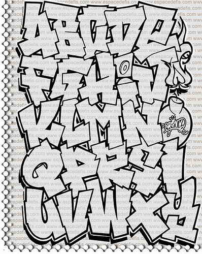 New Graffiti Alphabet Lettering A Z