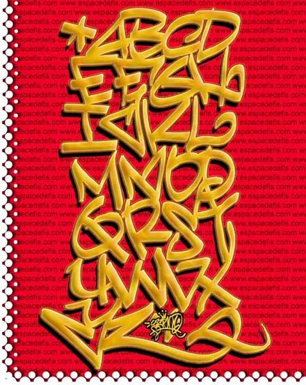 tag alphabet graffiti. Alphabet graffiti tag with a