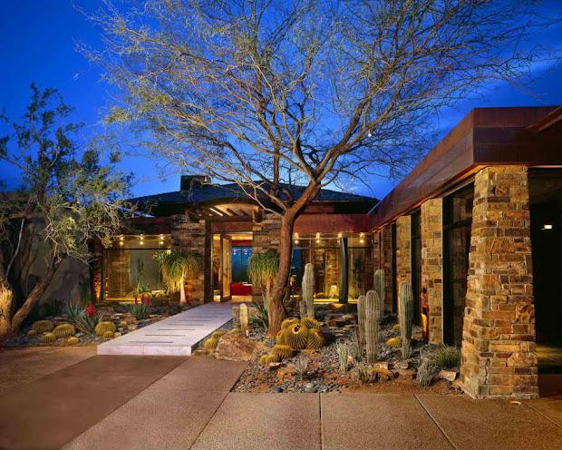 contemporary landscape design house