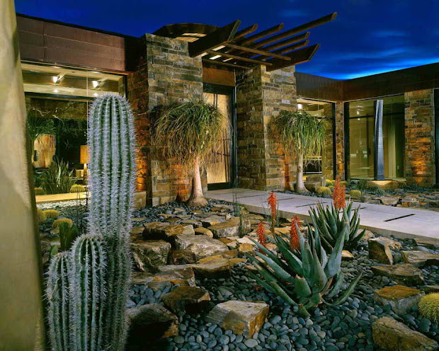 contemporary landscape design house