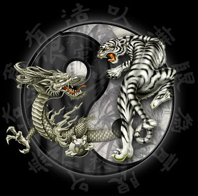 tribal tattoos designs dragon and tiger