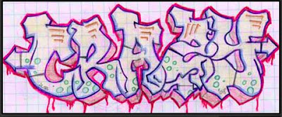 3d bubble letters graffiti alphabet pink and white