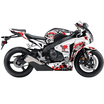 3d Design Graffiti Alphabet Bombing Bubble Tribal Letter in Honda CBR 1000cc