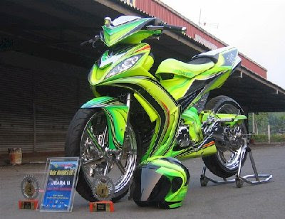 Modification Yamaha Jupiter mx Green Paint Cat Chrome Full Specification