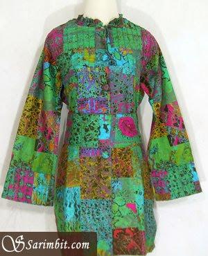 Modern batik fabric dress batik typical