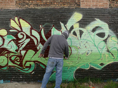 How To Make Green Graffiti Alphabet