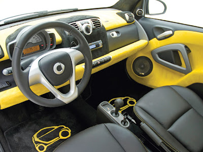 Bugatti Cars Interior on Smart Car Interior Edition Yellow Smart Car Custom Car
